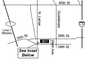map showing GIA location at 901 W. 38th St.
